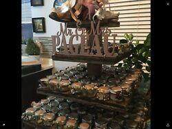 Cupcake Donut Stand (Tower Holder) 4 Tiers Wedding Party Wooden Rustic