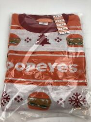 New Popeyes Chicken Sandwich Ugly Christmas Sweater Menand039s Size Xxl Free Shipping