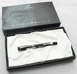 Parker Duofold Centennial Mosaic Fountain Pen 18kt Gold New In Box With Papers