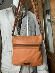 Fossil Orange Leather Crossbody Style Bag With Brass Hardware SL3253 $26.99