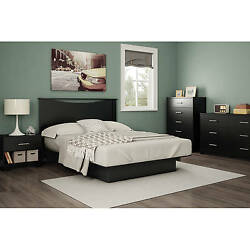 Black Queen Storage Platform Bed 5 Piece Bedroom Set Home Living Furniture Dorm