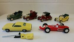 Vintage Friction Cars Cragston -lucky Lot Of 6