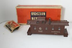 Lionel Post War 6457 Brown Caboose Shell With Plastic Insert