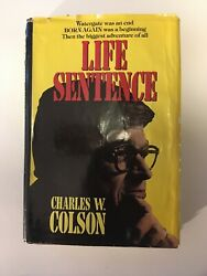 Life Sentence By Charles W. Colson 1979 Hardcover