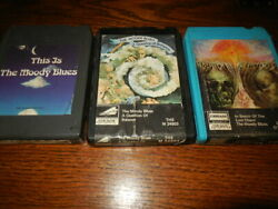 Lot Of 3 The Moody Blues 8 Track Tapes London Search Lost Child Question This Is