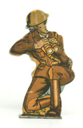 Marx Soldiers Of Fortune Tin Litho Target - Infantry Captain