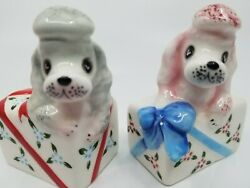 Py Poodle Salt And Pepper Shakers Vintage Very Nice Condition