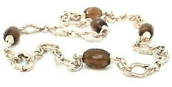 Charles Krypell Sterling Silver Whiskey Quartz Necklace