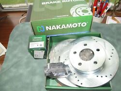 Nakamoto Slotted And Drilled Rear Rotors And Ceramic Pads - Hhr-cobalt-g5-g6-ion-new