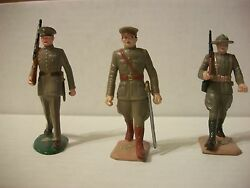 Marx Warriors Of The World 3 Marines Mint W/ Gold Labels