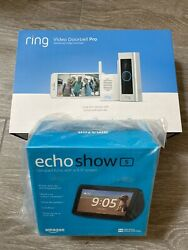 New Ring 8vr1x8-0enb Video Doorbell Pro And Chime Pro Bundle With Show 5