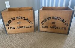 7 Up Seven Up Wood Crate Vintage Large Wooden Crate 2