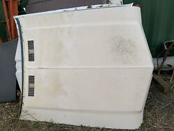 1969 Oldsmobile Hood Flat No Louvers/grille Style Fits Cutlass Supreme And F85