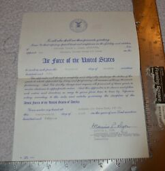 1951 Vintage Air Force Of The United States Discharge Paper
