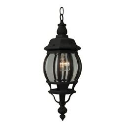 Craftmade Outdoor French Style Small Pendant Textured Matte Black Z321 TB