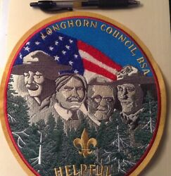 Longhorn Council Bsa, Friends Of Scouting, Helpful Back Patch