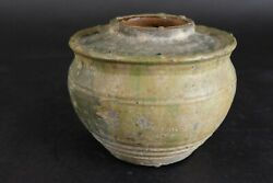 Beautiful Antique Green Glased Chinese Vase Han Period 206 Bc - Ad 220