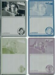 Star Trek Tos Archives And Inscriptions Set Of 4 Base Card Printing Plates 34
