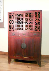 Antique Chinese Ming Scholar-scroll Cabinet 5306 Circa 1800-1849