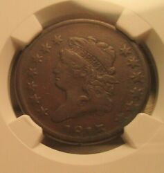 1813 Classic Head Large Cent Ngc Vf35