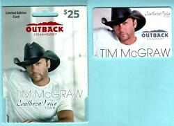 Outback Steakhouse Tim Mcgraw Southern Voice Tour 2011 Gift Card 0