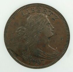 1797 Draped Bust Large Cent Rev Of 97 With Stems Ngc Old Fatty Holder Xf40