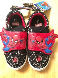 Marvel Spiderman Boys Youth Non Tie Shoe Casual Athletic Child Size 11 NWT