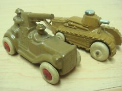 C30s Barclay Military Anti-aircraft Coupe Car + Tank Exc Clean Shape
