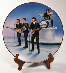 The Beatles Live In Concert Plate 1 Collectible Delphi Plate - 1991 - Mint