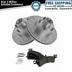 Front Disc Brake Rotors And Posi Ceramic Pads Kit Set For Buick Cadillac Chevy Gmc