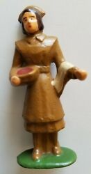 Tommy Toy Co. Original Lead Toy Soldier Nurse Brown Tt15 Very Rare Barclay