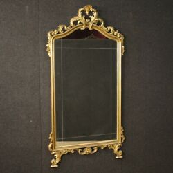 Mirror In Golden Wood Furniture Frame Italian Antique Style 900 Living Room