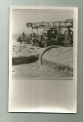 1960's Usa Water Well Drilling Rig Truck Derek Tractor Iran Real Photo Postcard
