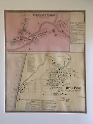 Pleasant Valley And Hyde Park, Dutchess County, Ny 1867 Lithograph By F.w. Beers