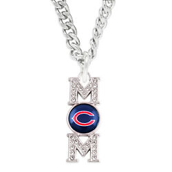 Chicago Bears Mom Chain Necklace Simulated Diamond Charm Pendant Womens Jewelry