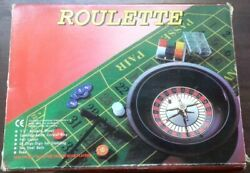 16-inch Roulette Wheel Game Set With Chips, Rake And Full Size Felt Layout