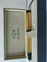 Parker Duofold Rollerball Pen Gold New In Box