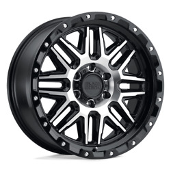 Black Rhino Ala 18x9 5x139.7 02 78.10 Gloss Black W/ Machined Face And Stainless