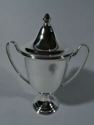 Fina Trophy Cup - Classical Covered Vase Urn - American Sterling Silver