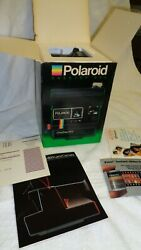 Vintage Polaroid One Step 600 Land Camera Brand New In Box With Paperwork
