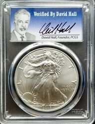 2016 Silver Eagle 30th Anniversay Graded By Pcgs Ms70 Founder David Hall Rare