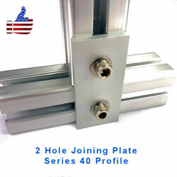 2 Hole Joining Plate - 4040 8020 Aluminum Profile Extrusion Accessory Set Of 2