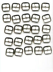 1 Inch Center Bar Nickel Plated Buckle - 25 Pack