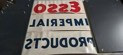 Vintage And Original Esso Imperial Products Sign Advertising Gas Station Letters