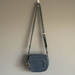 Velez Leather Bags Blue Crossbody Messenger Made in Colombia $45.00