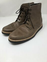 Common Projects Mens Sz 41 8-8.5 Size Zip Lace Up Leather Combat Boot Brown 1979