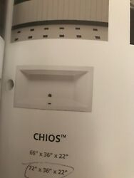 Americh Chios Whirlpool Ch7236 White W/ Factory Installed Apron