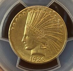 1926 Gold 10 Indian Pcgs Ms63