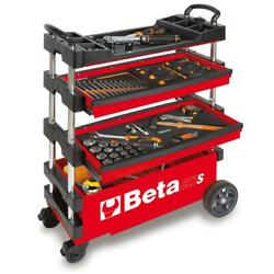 Folding Tool Utility Cart Truck Garage Storage Tools Rolling Portable Red 15 In