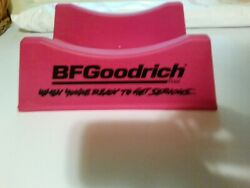 Complete Bf Goodrich Sign Pink Tire Stand Plastic Original Gas And Oil